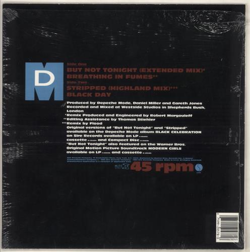 "Depeche Mode But Not Tonight - Opened shrink 12"" vinyl single (12 inch record / Maxi-single) US DEP12BU732898"