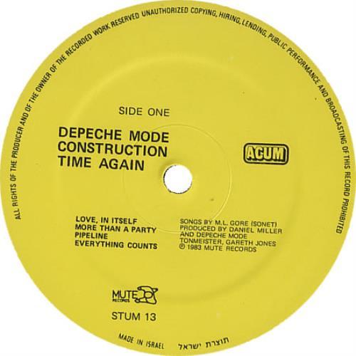 goldene Schallplatte Depeche Mode Construction Time Again platin Schallplatte