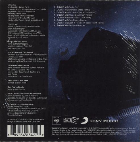 "Depeche Mode Cover Me (Remixes) - Sealed CD single (CD5 / 5"") UK DEPC5CO682489"