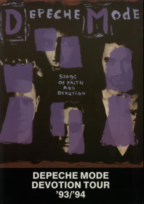 Depeche Mode Devotion Tour '93/'94 + Ticket stub tour programme UK DEPTRDE214605