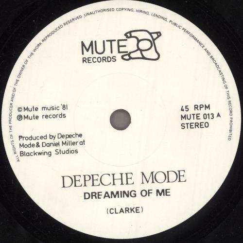 "Depeche Mode Dreaming Of Me 7"" vinyl single (7 inch record) UK DEP07DR06885"