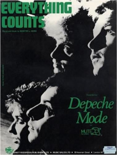 depeche mode everything counts uk sheet music 177125 am34042