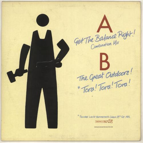 "Depeche Mode Get The Balance Right - EX 12"" vinyl single (12 inch record / Maxi-single) UK DEP12GE732891"