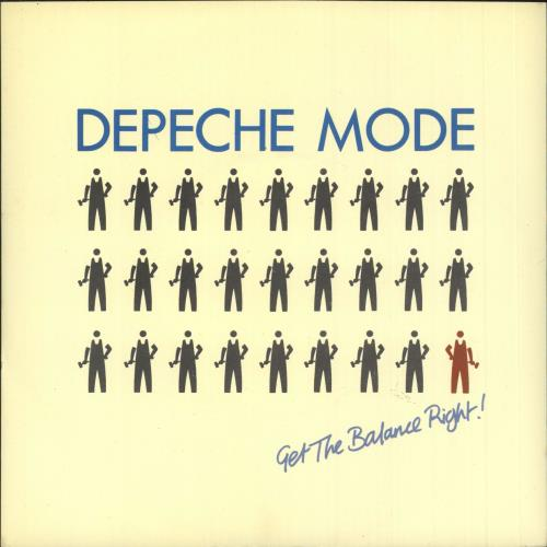 "Depeche Mode Get The Balance Right 7"" vinyl single (7 inch record) UK DEP07GE746458"