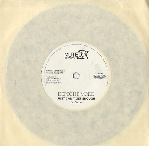 "Depeche Mode Just Can't Get Enough 7"" vinyl single (7 inch record) UK DEP07JU559645"