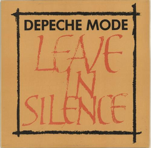 "Depeche Mode Leave In Silence - Textured Sleeve - EX 12"" vinyl single (12 inch record / Maxi-single) UK DEP12LE07899"
