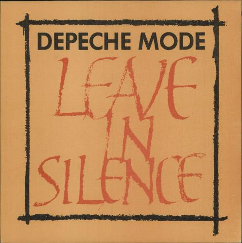 "Depeche Mode Leave In Silence - Textured Sleeve 12"" vinyl single (12 inch record / Maxi-single) UK DEP12LE732888"
