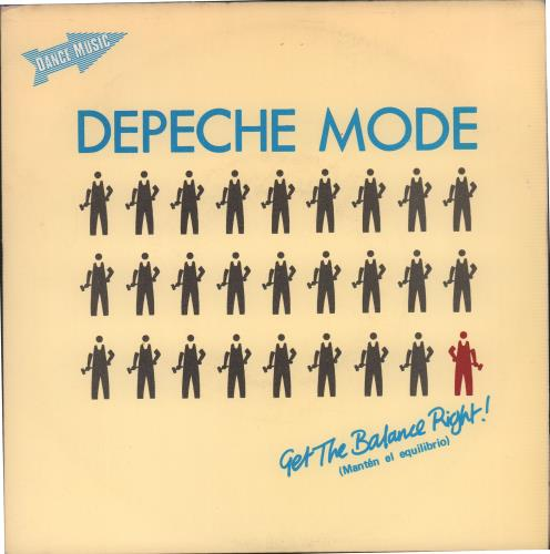 "Depeche Mode Mantén El Equilibrio (Get A Balance Right) 7"" vinyl single (7 inch record) Spanish DEP07MA671848"