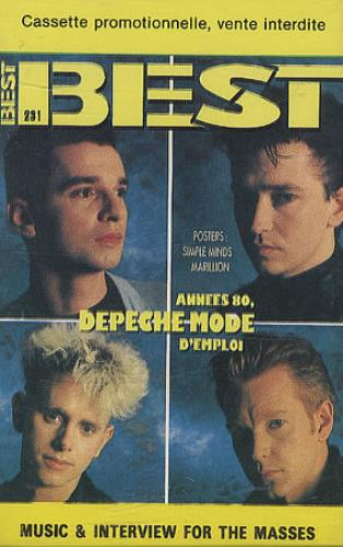 Depeche Mode Music & Interview For The Masses cassette album French DEPCLMU106311