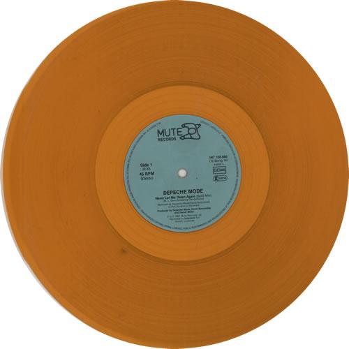 "Depeche Mode Never Let Me Down Again - Orange Vinyl 12"" vinyl single (12 inch record / Maxi-single) German DEP12NE07927"