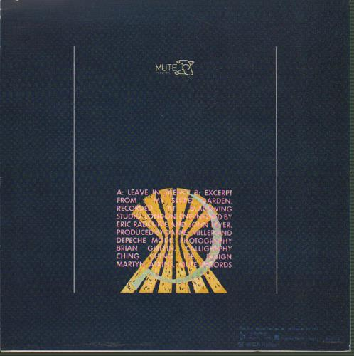 "Depeche Mode Partir En Silencio (Leave In Silence) 7"" vinyl single (7 inch record) Spanish DEP07PA341609"