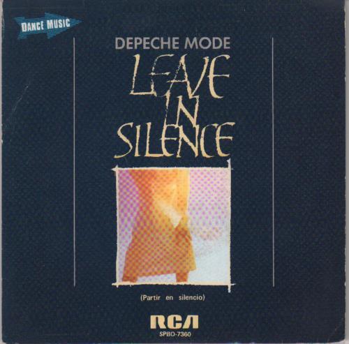 "Depeche Mode Partir En Silencio (Leave In Silence) 7"" vinyl single (7 inch record) Spanish DEP07PA671843"
