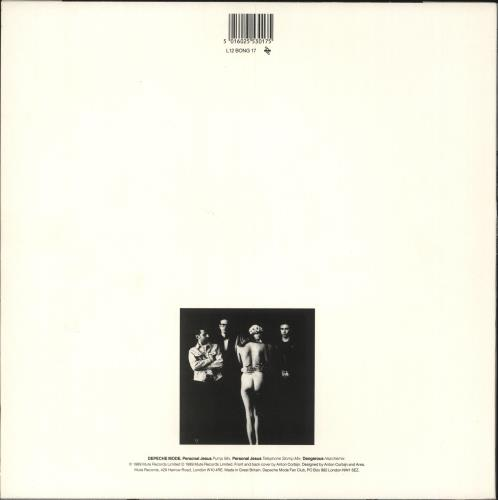 "Depeche Mode Personal Jesus - Stickered 12"" vinyl single (12 inch record / Maxi-single) UK DEP12PE746435"