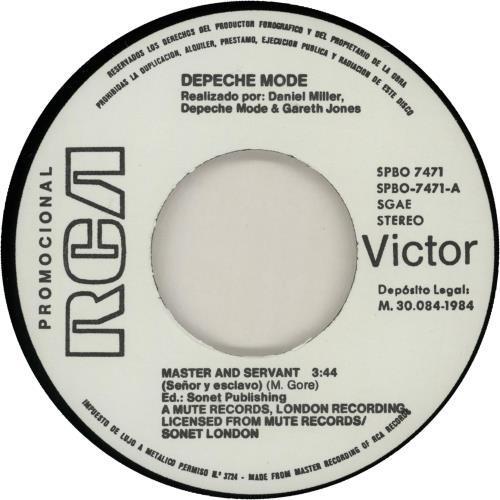 "Depeche Mode Senor Y Esclavo 7"" vinyl single (7 inch record) Spanish DEP07SE644699"