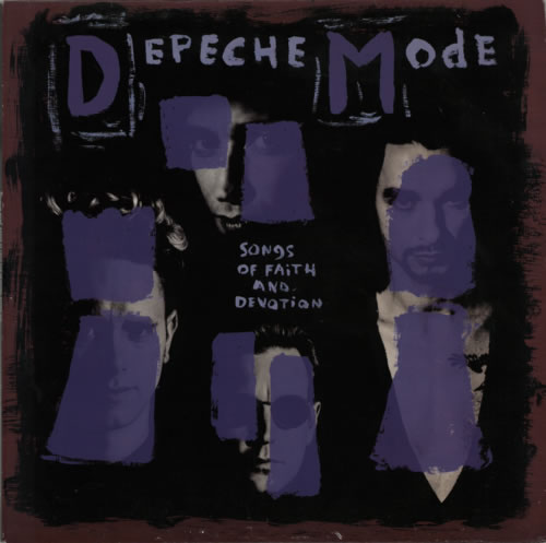 Depeche Mode Songs Of Faith And Devotion - EX vinyl LP album (LP record) UK DEPLPSO592193