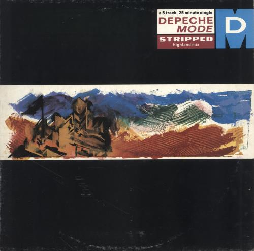 "Depeche Mode Stripped (Highland Mix) - 1st - EX 12"" vinyl single (12 inch record / Maxi-single) UK DEP12ST612902"