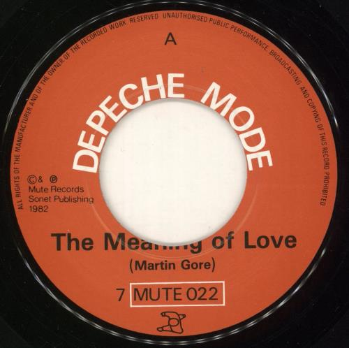 "Depeche Mode The Meaning Of Love - Glossy - Wide 7"" vinyl single (7 inch record) UK DEP07TH746459"