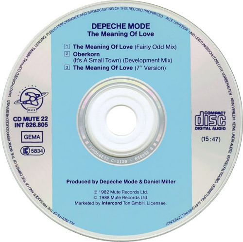 Depeche Mode The Meaning Of Love - Original German CD single (CD5