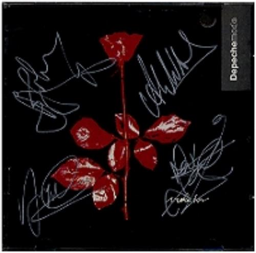 Depeche Mode Violator Autographed Us Cd Album Cdlp