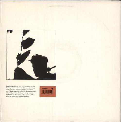 "Depeche Mode World In My Eyes - EX 12"" vinyl single (12 inch record / Maxi-single) UK DEP12WO722529"