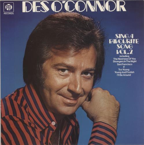 Des O'Connor Sing A Favourite Song Volumes 1 & 2 2-LP vinyl record set (Double Album) UK DSO2LSI733073