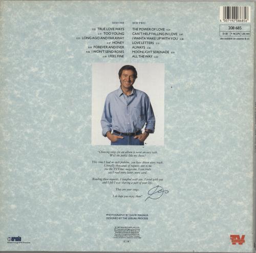 Des O'Connor True Love Ways vinyl LP album (LP record) UK DSOLPTR736816