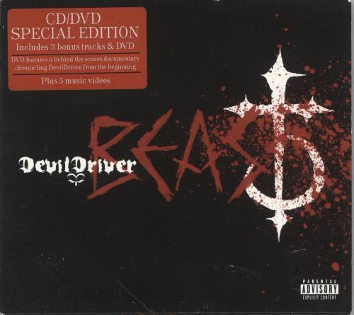 DevilDriver Beast 2-disc CD/DVD set UK 1Q02DBE748731