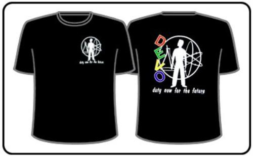 "FREE SHIPPING Devo /""Duty Now/"" T-Shirt"