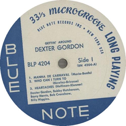 Dexter Gordon Gettin' Around - New York USA US vinyl LP album (LP
