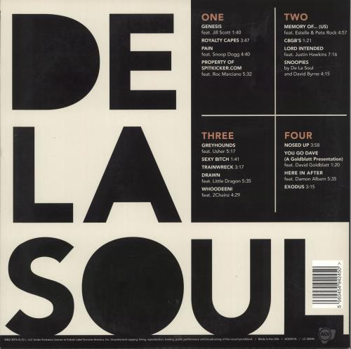 De La Soul And The Anonymous Nobody 2-LP vinyl record set (Double Album) US DLS2LAN693973