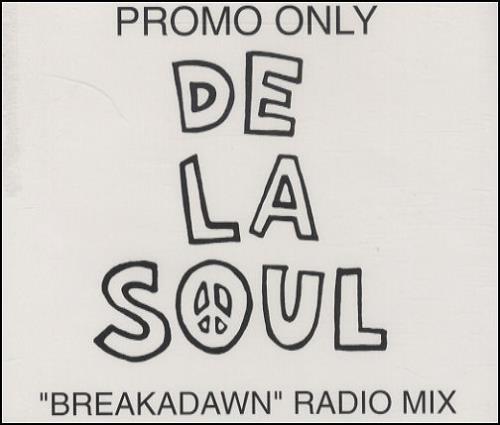 """De La Soul Breakadawn CD single (CD5 / 5"""") UK DLSC5BR132864"""