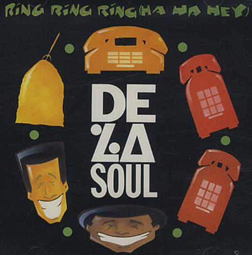 "De La Soul Ring Ring Ring (Ha Ha Hey) CD single (CD5 / 5"") US DLSC5RI385994"
