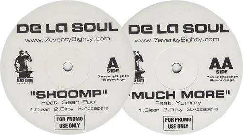 "De La Soul Shoomp / Much More 12"" vinyl single (12 inch record / Maxi-single) UK DLS12SH413396"