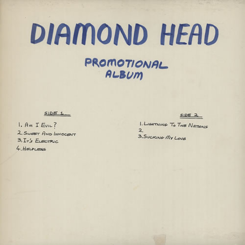 Diamond Head Lightning To The Nations White Label Uk