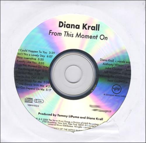 Diana Krall From This Moment On CD-R acetate US DKRCRFR377582