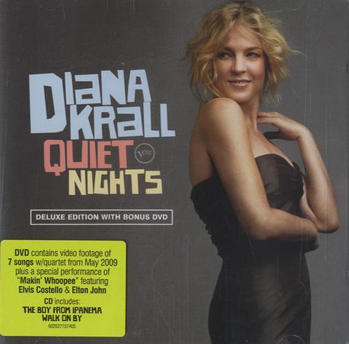 Diana Krall Quiet Nights 2-disc CD/DVD set German DKR2DQU495951