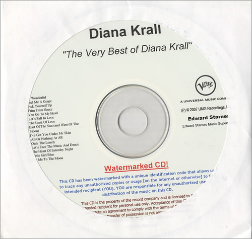 Diana Krall The Very Best Of Diana Krall CD-R acetate US DKRCRTH444705