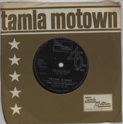 "Diana Ross & The Supremes I'm Livin' In Shame 7"" vinyl single (7 inch record) UK D/S07IM240866"