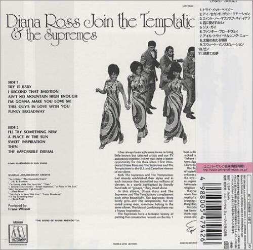 Diana Ross Amp The Supremes Join The Temptations Japanese Cd
