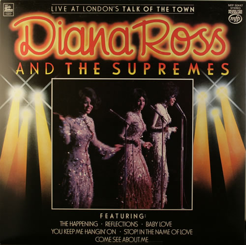 Diana Ross & The Supremes Live At London's Talk Of The Town vinyl LP album (LP record) UK D/SLPLI551894