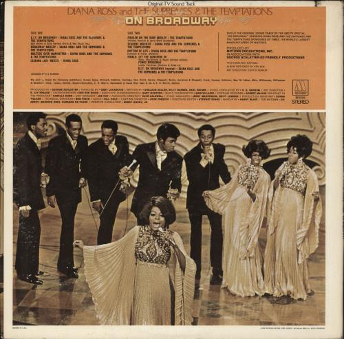 Diana Ross & The Supremes On Broadway vinyl LP album (LP record) US D/SLPON711000