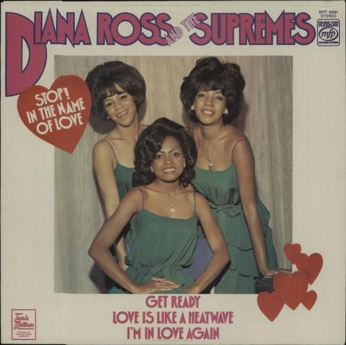 Diana Ross & The Supremes Stop! In The Name Of Love vinyl LP album (LP record) UK D/SLPST676525