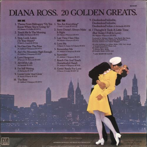 Diana Ross 20 Golden Greats vinyl LP album (LP record) Portugese DIALPGO708800