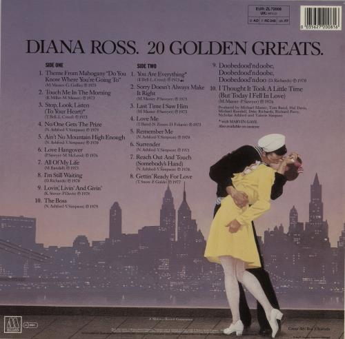 Diana Ross 20 Golden Greats vinyl LP album (LP record) UK DIALPGO756361