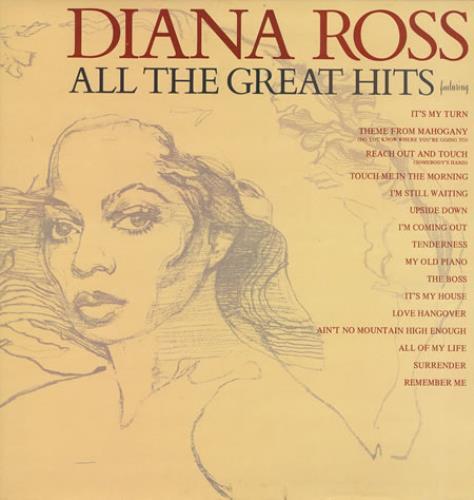 Diana Ross All The Great Hits vinyl LP album (LP record) UK DIALPAL238639