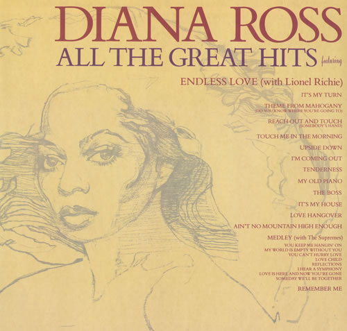 Diana Ross All The Great Hits 2-LP vinyl record set (Double Album) French DIA2LAL521709