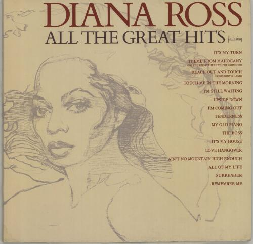Diana Ross All The Great Hits vinyl LP album (LP record) German DIALPAL675555