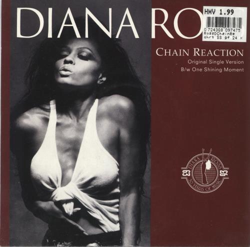 "Diana Ross Chain Reaction 7"" vinyl single (7 inch record) UK DIA07CH738297"