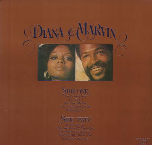 Diana Ross Diana & Marvin vinyl LP album (LP record) Japanese DIALPDI354069