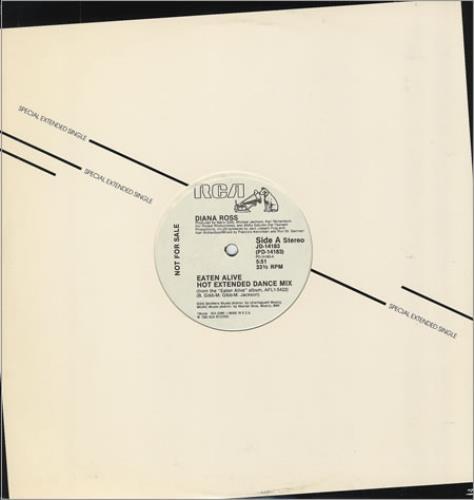 "Diana Ross Eaten Alive 12"" vinyl single (12 inch record / Maxi-single) US DIA12EA31982"